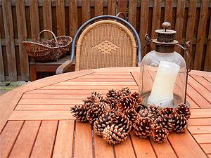 garten deko basteln mit naturmaterialien. Black Bedroom Furniture Sets. Home Design Ideas