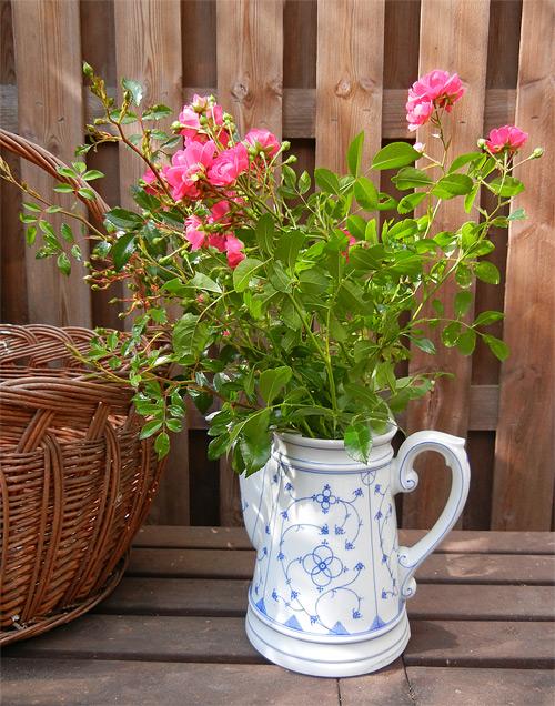 Schöne Alte Kaffeekannen Sind Eine Prima Gartendeko